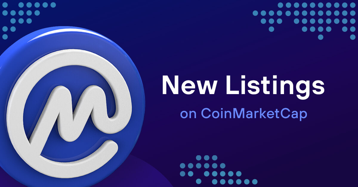 Các loại tiền mã hóa mới được niêm yết hôm nay và tuần này   CoinMarketCap