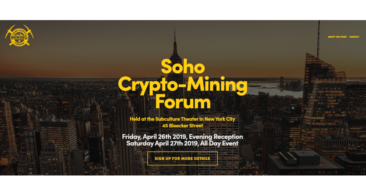 Soho Crypto Mining Forum
