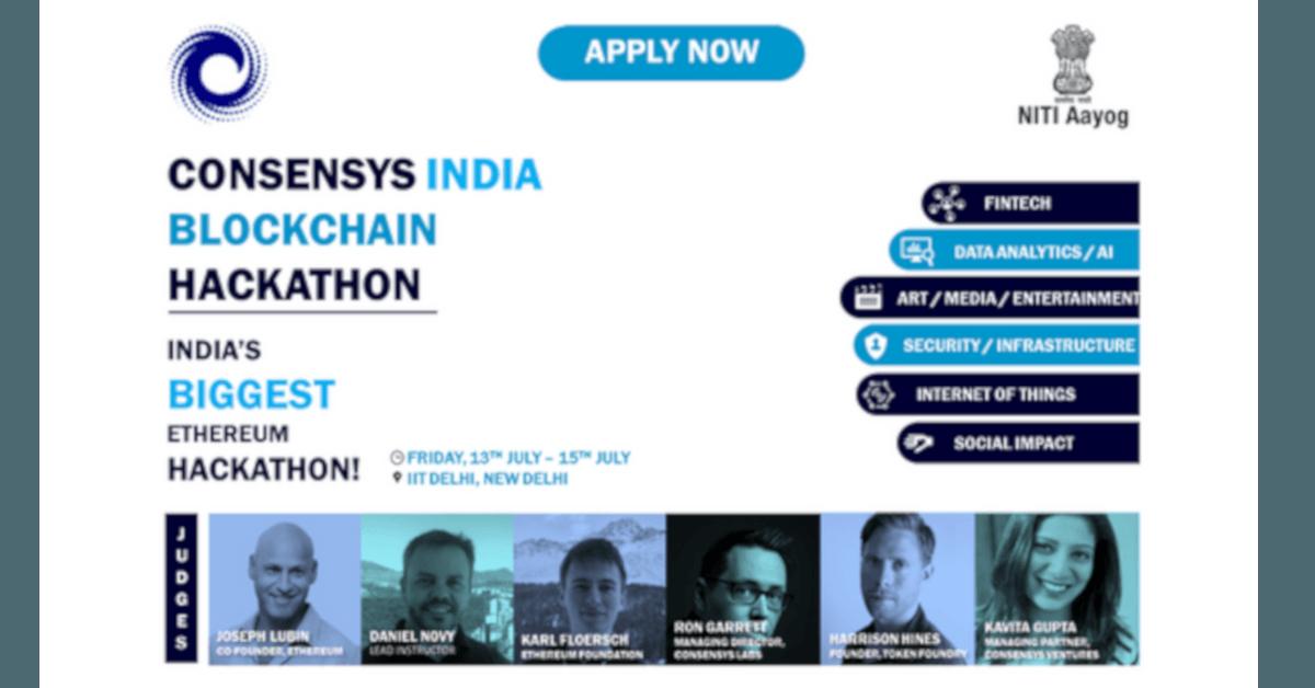 ConsenSys India Blockchain Hackathon