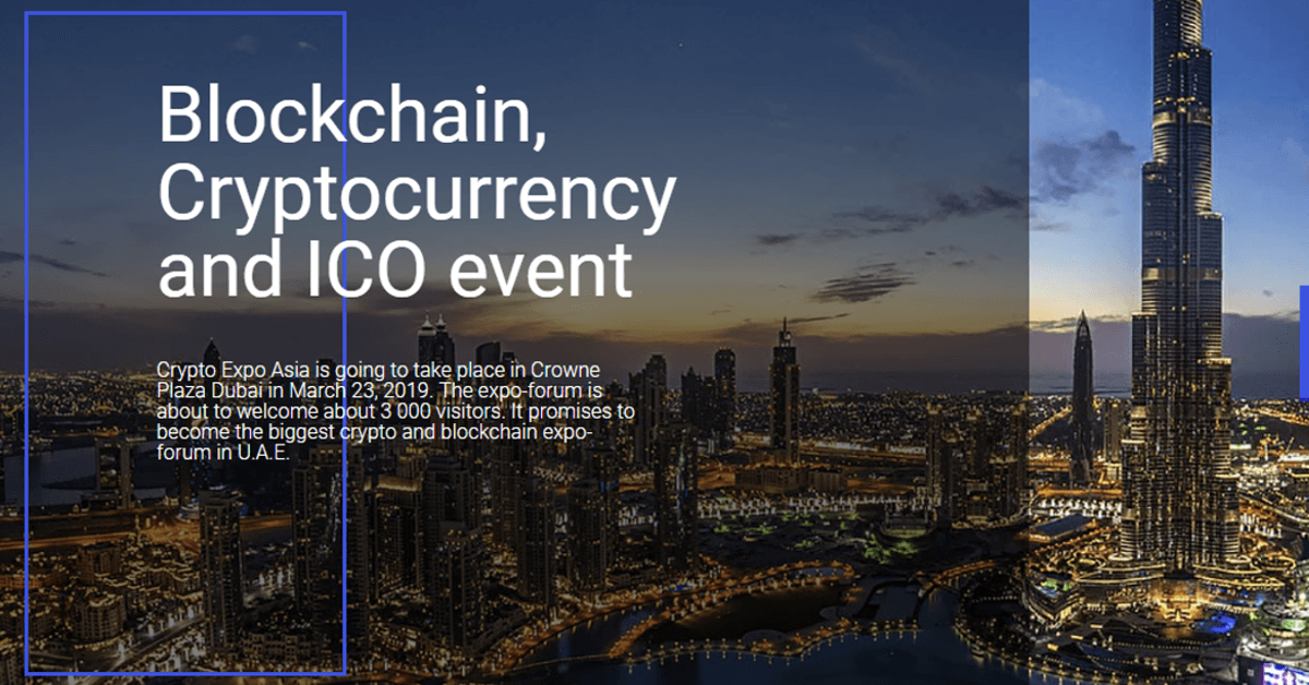 Crypto Expo Asia in Dubai